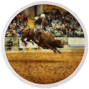 A Night At The Rodeo V7 Round Beach Towel