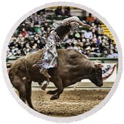 A Night At The Rodeo V8 Round Beach Towel