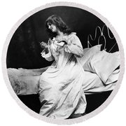 A Night Cap, 1901 Round Beach Towel