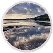 A November Afternoon At Lyme Regis Round Beach Towel