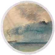 A Paddle-steamer In A Storm Round Beach Towel