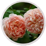 A Pair Of Colette Roses Round Beach Towel