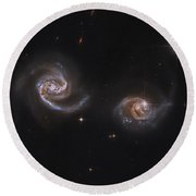 A Pair Of Interacting Spiral Galaxies Round Beach Towel