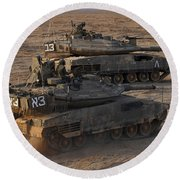 A Pair Of Israel Defense Force Merkava Round Beach Towel