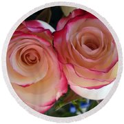 A Pair Of Roses  Round Beach Towel