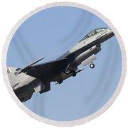 A Pakistan Air Force F-16a Block 15 Round Beach Towel
