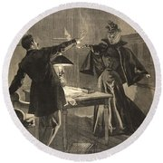 A Parisien Drama, Illustration From Le Round Beach Towel