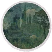 A Park In The City Round Beach Towel
