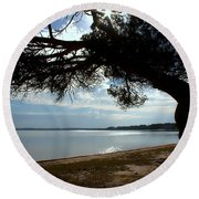 A Park With Tranquil Moments Round Beach Towel