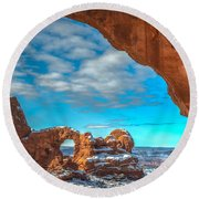 A Partial View Round Beach Towel by Dustin  LeFevre