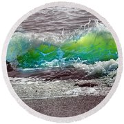 A Perfect Ending Round Beach Towel