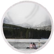 A Perfect Picnic Round Beach Towel