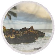 A Perfect Union Of Love Round Beach Towel