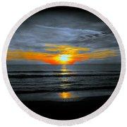 A Phoenix Firebird Sunset Round Beach Towel