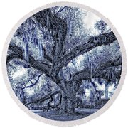 A Place For Dying Blue Round Beach Towel