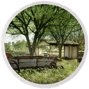 A Place In The Shade Round Beach Towel