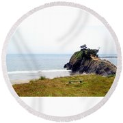 A Place Of Solitude Round Beach Towel