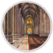 A Place Of Worship Round Beach Towel