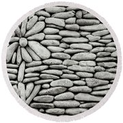 A Plant In The Wall Round Beach Towel