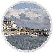 A Postcard From St Ives Round Beach Towel