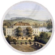 A Prussian Royal Residence, C.1852-63 Round Beach Towel