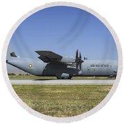 A Qatar Emiri Air Force C-130j-30 Round Beach Towel