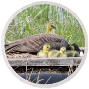 A Real Mother Goose Round Beach Towel