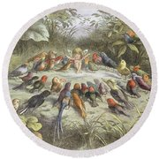 A Rehearsal In Fairy Land, Illustration Round Beach Towel