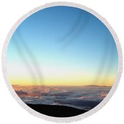 A River In The Clouds Round Beach Towel