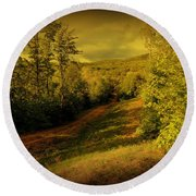 A Road Less Traveled Round Beach Towel