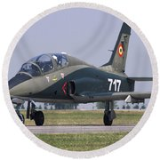 A Romanian Air Force Advanced Trainer Round Beach Towel