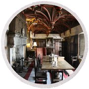 A Room In Bunratty Castle Round Beach Towel