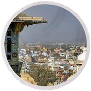 A Room With A View.. Round Beach Towel