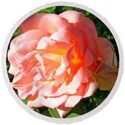 A Rose And A Rose Round Beach Towel