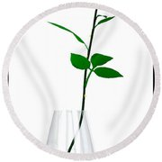 A Rose For The Woman I Love... Round Beach Towel