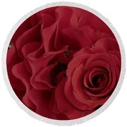 A Rose Within A Rose Round Beach Towel