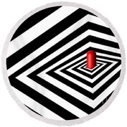 A Round Peg In A Square Hole Round Beach Towel