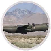 A Royal Air Force C130k Hercules Round Beach Towel