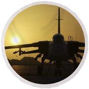 A Royal Air Force Tornado F3 Round Beach Towel