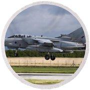 A Royal Air Force Tornado Gr4a Landing Round Beach Towel