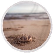 A Sand Crab Looks Out Over The Andaman Round Beach Towel