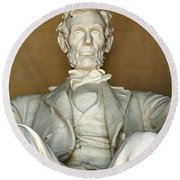 A Seated Abe Lincoln Round Beach Towel