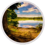 A Secret Place Round Beach Towel
