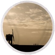 A Sense Of Perspective Round Beach Towel