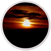 A Shimmer Off The Water Round Beach Towel