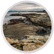 A Shot Of An Early Morning Aquidneck Island Newport Ri Round Beach Towel