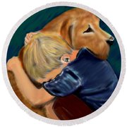 A Shoulder To Cry On Round Beach Towel