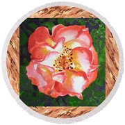 A Single Rose The Dancing Swirl  Round Beach Towel
