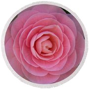 A Soft Blush Round Beach Towel