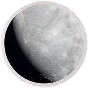 A Southern Super Moon Shot Round Beach Towel